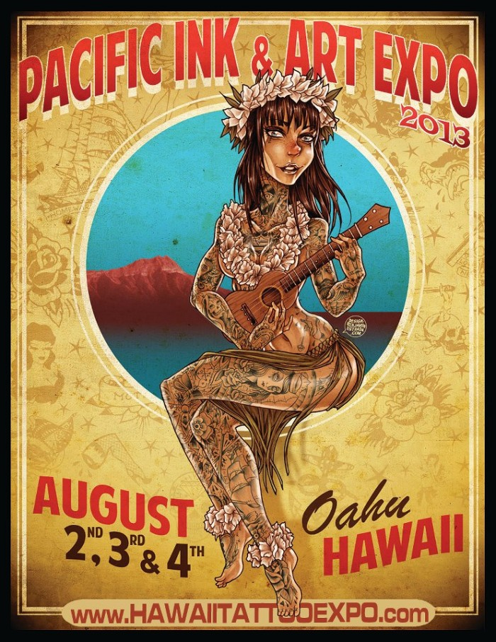 Pacific ink art expo hawaii august 2015 for Hawaii tattoo expo