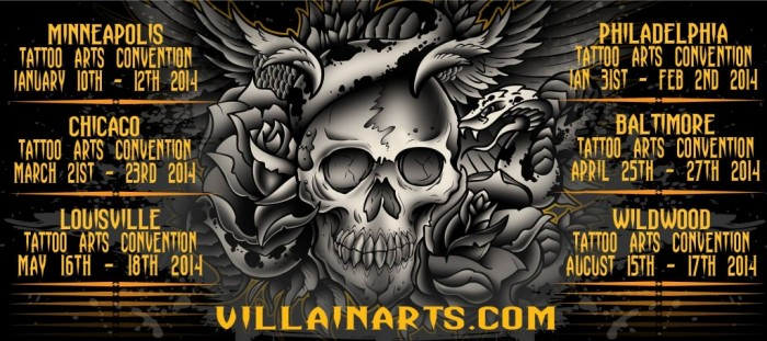 Villain Arts Tattoo Conventions 2014 Wildwood Tattoo Beach Bash